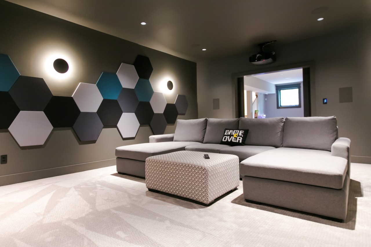 Home Theaters with Design & Budget In-Mind